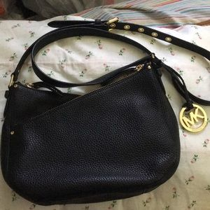 NWOT Michael Kors Double Zip Black Crossbody Purse